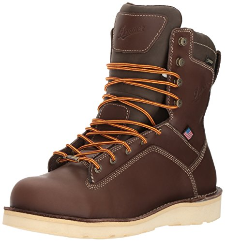 Danner Men's Quarry USA 8 Inch Alloy Toe Wedge Work Boot, Brown, 11 D US