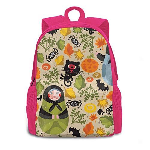 3d Matryoshka Dolls And Cat Monsters Multipurpose Backpack Daypacks Bookbag For Women Men Kids