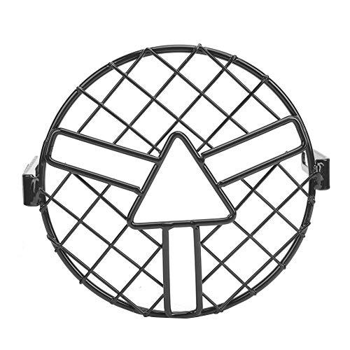 Duokon koplamp lampenkap, retro zwarte motorfiets voor ronde koplamp lampenkap beschermhoes accessoire