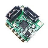 GLOTRENDS - Scheda Adattatore da PCIe 2.0 a SATA III per IPFS Mining e aggiunta di disposi...