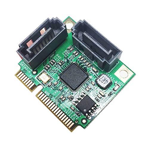 glotrends MiniPCIe 2.0 zu SATA III Adapterkarte für IPFS Mining und Hinzufügen von SATA 3.0 Geräten MiniPCIE to SATA