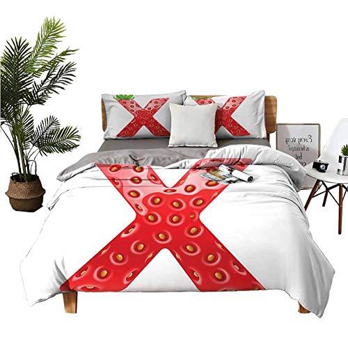 """Dragon Vines - Juego de ropa de cama (4 unidades, incluye fundas de almohada, diferentes tipos de pelotas), diseño de abecedario y alfabeto, multicolor, poliéster, Patrón 09, Twin (W85""""xL85"""")"""