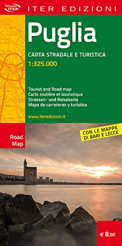 Puglia. Carta stradale e turistica 1:325.000 (Carte stradali)