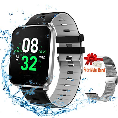 Smart Watch, Fitness Tracker Compatible for Android & iOS with Heart Rate & Blood Pressure & Sleep...