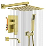 KOJOX 12 Inch Shower System with High Pressure Rainfall Shower...