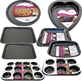 Set of 8 Non Stick Baking Tray PAN Set Muffin Oven Roasting BAKEWARE Roast New