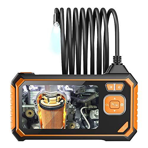 Naisde Industrielle Endoskop-Kamera-Inspektion wasserdichte Kamera mit 6 einstellbaren LED-Leuchten Halb-starres Kabel 32 GB TF-Karten-Glasfaser-Spleiß