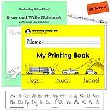 Cuaderno de escritura a mano sin lágrimas, con rayas de alfabeto, lápiz para manos pequeñas, goma de borrar, juego de jardín de infancia y primer grado