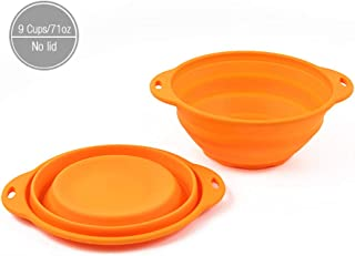 Jovilife Collapsible Mixing Bowl, Silicone Mixing bowl Orange(9 Cups/71oz)