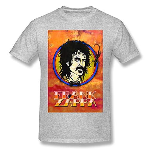 Frank Zappa - Maglietta a maniche corte da uomo, stile retrò, divertente, colore: Nero, grigio, L