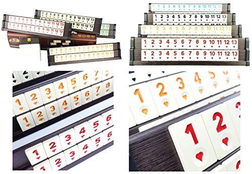 KD Premium Ausführung (dunkel) Rummy Set Okey - hochwertige Verarbeitung (Finish) & Materialien (Holz & Melaminsteine) - Spielspaß ohne Ende