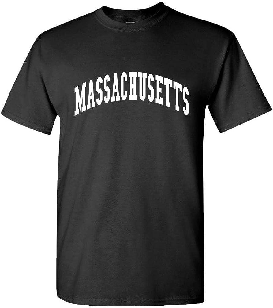 The Goozler Massachusetts - USA America State Pride Patriotic - Mens Cotton T-Shirt