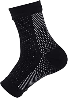 Men's Women's Ankle Brace Compression Sleeve Breathable Support Socks for Sports