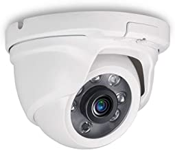 Tonton Full HD 1080P 2.0MP Indoor/Outdoor Dome Camera,Full Metal Housing,Night Vision up to 60 ft,6PCS Infrared LED with IR Cut,Suitable for TVI and Hybrid Security Camera System and DVR(White)