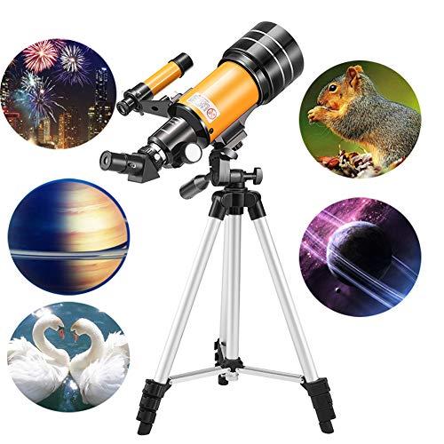 YINGZU Telescopio astronómico con Adultos en trípode Mirando a la Estrella del Cielo, observación de Aves, Viaje para Ver la Luna y el Planeta