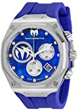 Technomarine Men's Reef Sun Stainless Steel Quartz Watch with Silicone Strap, Blue, 32.5 (Model: TM-519013)