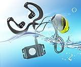 E-PLAZA Cool Lecteur MP3 étanche IPX8 pour la natation, la course à pied, le jogging, le spa + écouteurs + brassard Noir 4 Go