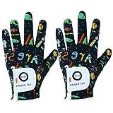 Kids Golf Gloves Boys Girls Left Right Hand Breathable Value 2 Pack Gift Set for Junior Youth Toddler White Black Green