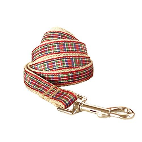 PENIVO Geometrische plaid selbst designer einstellbare pet weiche & bequeme klassische gepolsterte hundehalsband 5 größe,Passende Leine und Geschirr separat erhältlich (2.5cm * 120cm, Geschirre)