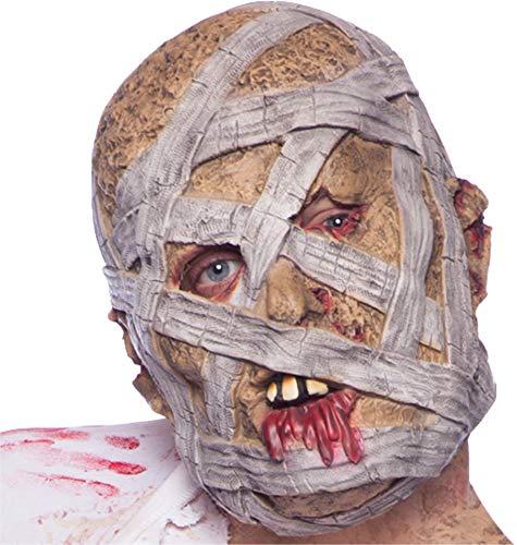 TK Group Timo Klingler Maschera di Halloween Mummia dell'orrore per Maschere Maschili e Femminili (Maschera Mummia)