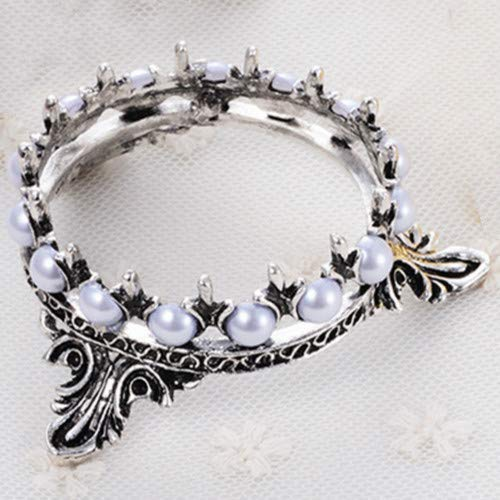 Nail Brush Stand Home Tools Pen Holder Rack Nail Art Brush Pearls Decoration Crown Alloy Stand (1Pcs)