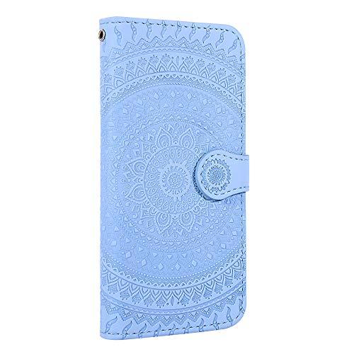 Tosim Galaxy J4 2018 Hülle Klappbar Leder, Brieftasche Handyhülle Klapphülle mit Kartenhalter Stossfest Lederhülle für Samsung Galaxy J4 - TOHME020270 Blau