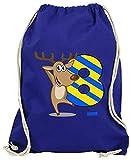 Hariz - Bolsa de deporte con diseño de renos divertidos y texto en alemán, azul real (Azul) - AchterGeburtstag36-WM110-10-1