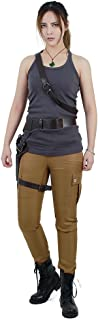 miccostumes Women's Croft Cosplay Costume Top Pants with Belts Set