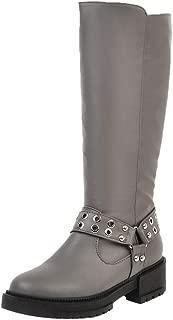 VulusValas Women Block Heel Mid Calf Boots Zip