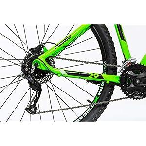 Moma Bikes Mtb29 Peak L Bicicleta de Montaña, Frenos de Disco hidraulicos, 27V, Unisex Adulto, Verde