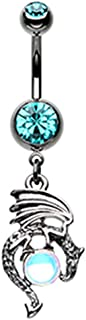 14G Mother of Dragons Dangle Belly Button Navel Ring