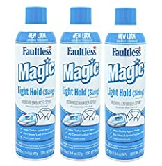 (3) Faultless Starch Magic Sizing Fabric Finish, 20 oz Makes ironing much easier! Great for synthetics and blends. Imparts body to your fabrics without the stiffness of starch. Light body finish makes your clothes feel new again. Fresh clean scent. P...