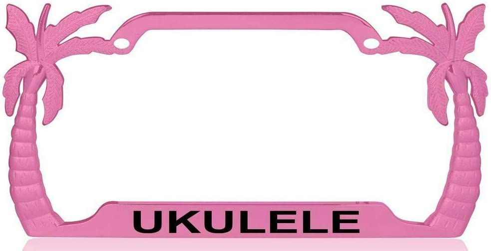 Charlotte Mall Ukulele Max 83% OFF Palm Tree Design Plate Personalize License Frame-CAN