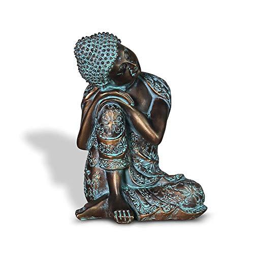 Wanjun Kunsthandwerk aus Harz, Zen-artige schlafende Buddha-Ornamente, geeignet für Wohnzimmer-TV-Schränke und Wohnaccessoires Kunsthandwerk Aus Harz, Zen-Artige Schlafende Buddha-Ornamente,A
