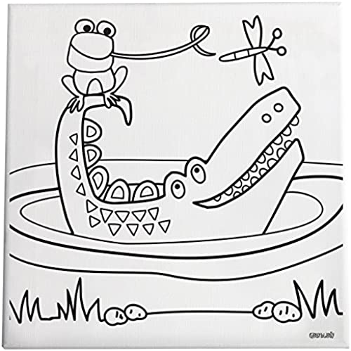 Gibby & Libby Paint and Create Canvas Kit, Crocodile Fun-Dee by C.R. Gibson by C.R. Gibson