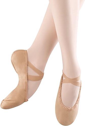 Bloch Dance Wohommes Pump Canvas Split Sole Ballet Slipper,Flesh,3 B US