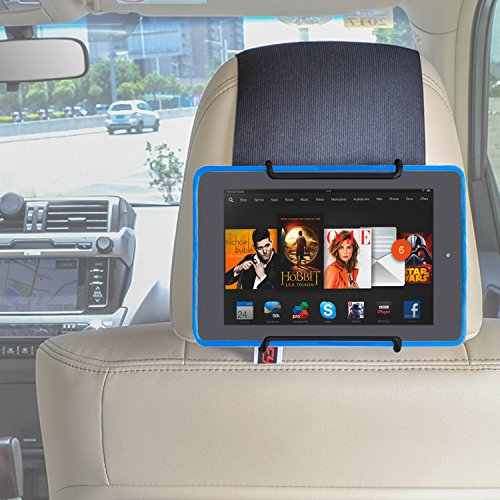 TFY Auto-Kopfstütze Halterung für allen Kindle Fire - Kindle Fire (Previous Generation 1st) / Kindle Fire HD 6 / Kindle Fire HD 7 / Kindle Fire HD X7 / Kindle HD X9 / HD 6 (2014) / HD 7 (2014) / HD 6 (Kid Edition) / HD 7 (Kid Edition) / New Fire 7 (2015) / Fire HD 8 / Fire HD 10