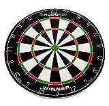 HUDORA Dartscheibe Bristle Dartboard Winner, inkl. 6 Dartpfeile mit Metallspitze - 77032
