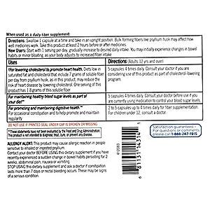 Equate Daily Multi-Benefit Psyllium Fiber Capsules, 300 Ct