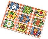 KidKraft - Puzzle de Madera para Ocultar y Descubrir: Alimentos (63491)