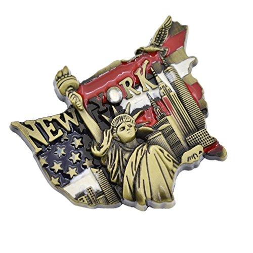 YNuth Kühlschrankmagnet Pinnwandmagnet New York Freiheitsstatue Mehrfarbig Deko