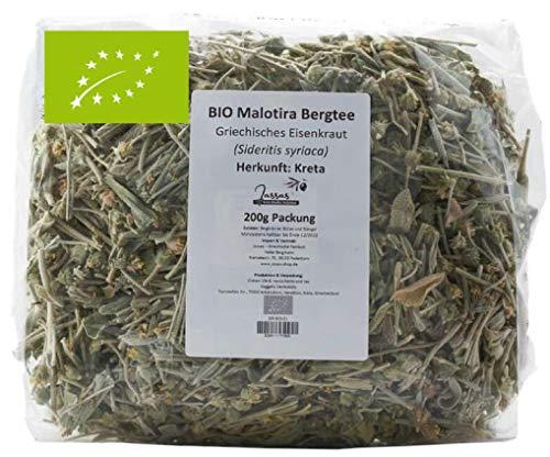 BIO Bergtee aus Griechenland | 200g Packung | Malotira, Griechisches Eisenkraut, Sideritis syriaca | Jassas-Shop
