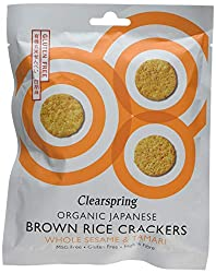 Made using highest quality ingredients A source of protein and iron Made in Japan to classic, wheat free recipe using rice and traditional seasonings Made without any added sugar, MSG, colourings, preservatives or leavening agents Slowly dried on a n...