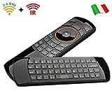 Rii Mini i25 Wireless + IR (Layout Italiano) - Mini Tastiera con Mouse giroscopico e Telecomando...