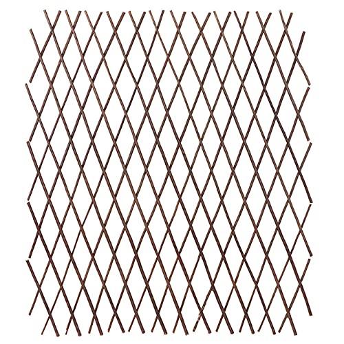 Nilkas Natürliche Gitterwillow Trellis für Kletterpflanzen, expandierbarer Holzgarten-Gitter-Zaun, expandierbares Pflanzenklettern Gitter für Kletterpflanzen Unterstützung