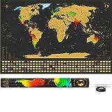 SCRATCH IT Weltkarte zum Rubbeln - Rubbel Landkarte -