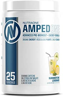 AmpedOne Pre Workout Powder for Men and Women by NutraOne – Pre Workout Supplement for Increased Energy and Focus (Summert...