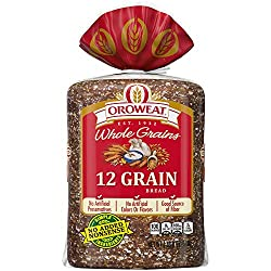 Oroweat Whole Grains 12 Grain Bread, Baked with Simple Ingredients & Whole Wheat, 24 oz