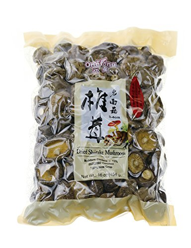 ONETANG Dried Mushrooms 16 oz Dried Shiitake Mushrooms 2020 New Mushrooms 1 Pound
