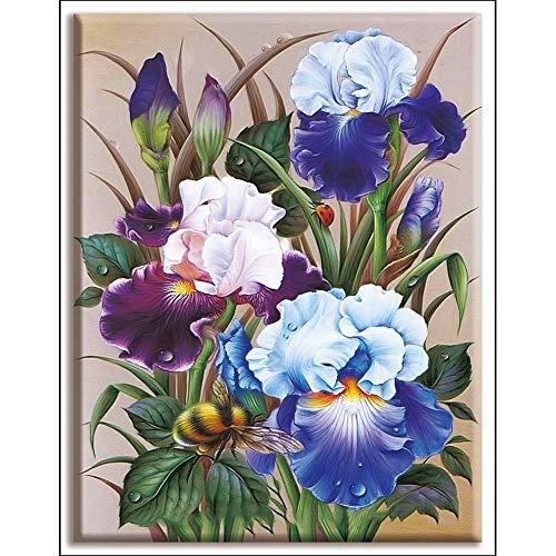 2020 Dmc, Punto De Cruz, Phalaenopsis Flor, Planta, Bricolaje, La Costura, Kits, 40x50cm Blanca Tela, Hilo De Algodón, Conjuntos For La Plena Bordado